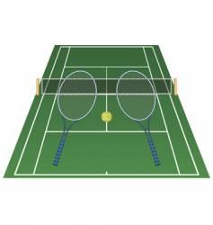 tennis court vector image vector image