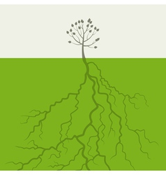 Tree with a root vector image