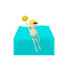 Water polo cartoon icon vector image