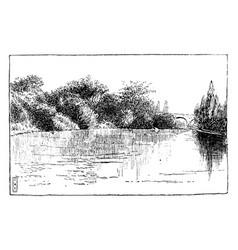 Water scene vintage vector