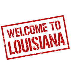 welcome to louisiana stamp vector image