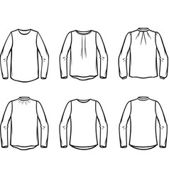 women blouse vector image