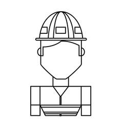Worker profile cartoon vector