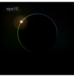 Abstract background with the eclipse of the planet vector