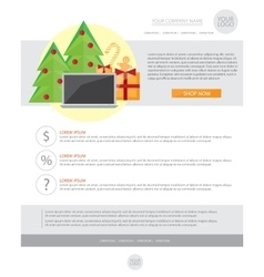 Happy new year holiday greeting email template in vector