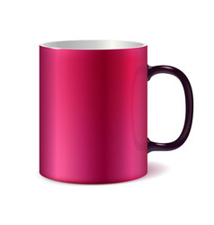 Pink and white big ceramic cup vector