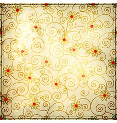 grunge floral background design vector image