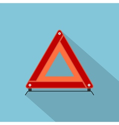 flat emergency stop sign vector image