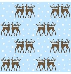 reindeers in forest vector image