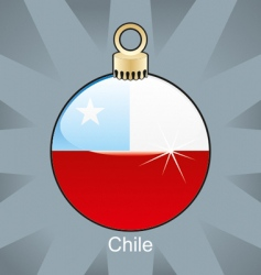 Chile flag in bulb vector image