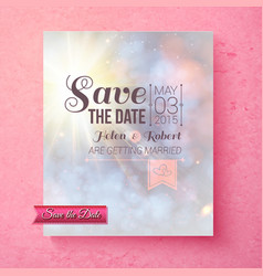 Soft spiritual save the date wedding template vector