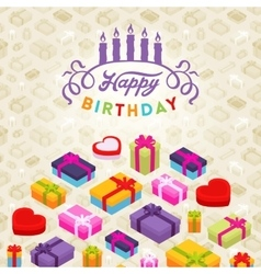 Birthday decorating design vector