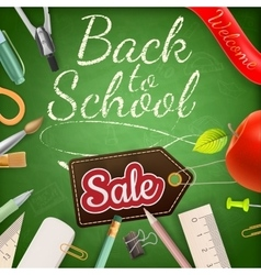 School sale poster eps 10 vector