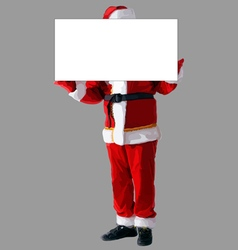 Santa claus isolated with blank banner vector