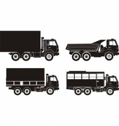Set of truck illustrations vector