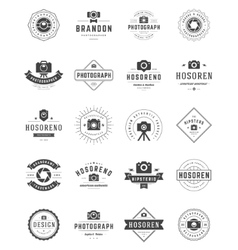 Photographer Logo Templates Set Design vector image