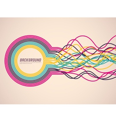Abstract ribbons vector
