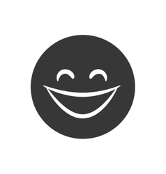 Happy face icon cartoon design graphic vector