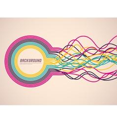 abstract ribbons vector image vector image