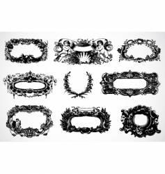 baroque frames vector image vector image