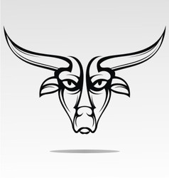 Bulls head tattoo design vector