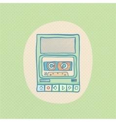 Cassette tape recorder vector