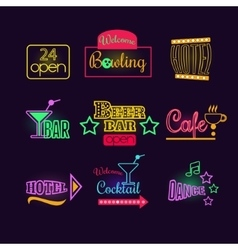 Colorful Glowing Neon Lights vector image vector image
