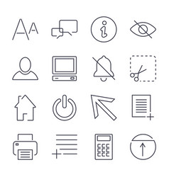 Different universal icons for apps sites vector