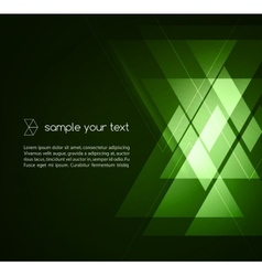 Elegant Geometric Green Background vector image