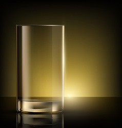 empty glass on the table vector image vector image