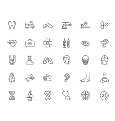 Flat healthcare icons vector