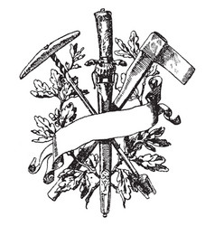 forestry symbol have been ever-present in myth vector image vector image