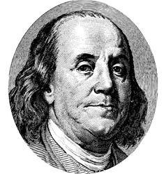 Franklin Portrait vector image
