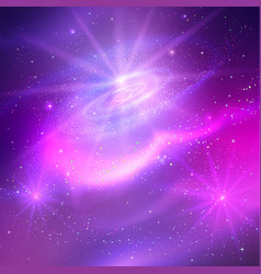 glowing background with outer space vector image