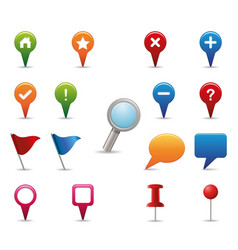 gps icon set vector image