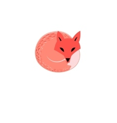 Graphic sign of a red fox vector image vector image