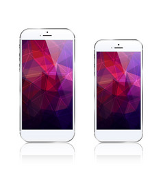 Iphone 6 plus triangular abstract background vector