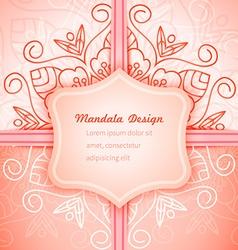 Mandala invitation lace vector