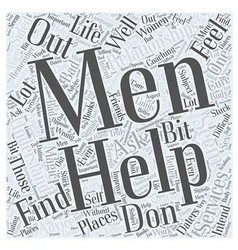 Relationships with men word cloud concept vector