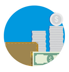 salary icon flat vector image