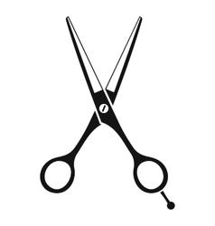 Scissors icon simple style vector image