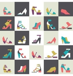 Seamless with beautiful heels vector