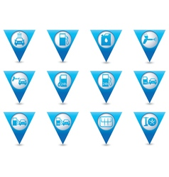 Set of pointers car service icons vector