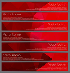 set of triangular banners vector image vector image