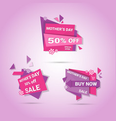 Shopping sale happy mother day discount sticker vector