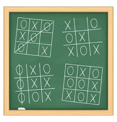 Tic Tac Toe Game vector image vector image