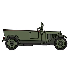 Vintage military opened car vector