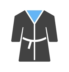 Towel robe vector