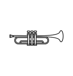 Music tube icon outline style vector