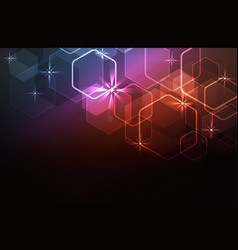 Glare light background vector